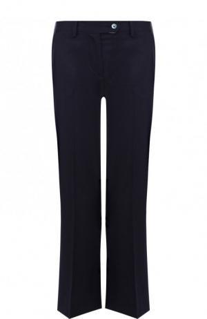 Укороченные расклешенные брюки из шерсти Kiton. Цвет: темно-синий