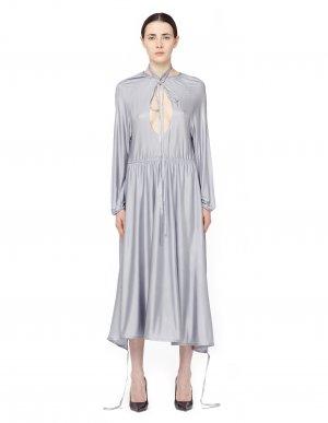 Асимметричное платье миди с вырезом VETEMENTS