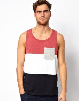 Block Stripe Vest French Connection. Цвет: красный