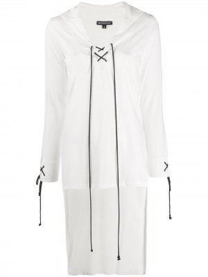 Блузка со шнуровкой Ann Demeulemeester. Цвет: белый