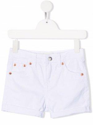 Levis Kids джинсовые шорты с эффектом потертости Levi's. Цвет: белый