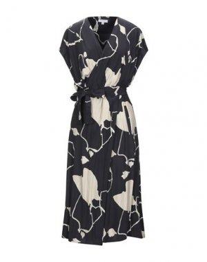 Платье миди EQUIPMENT. Цвет: черный
