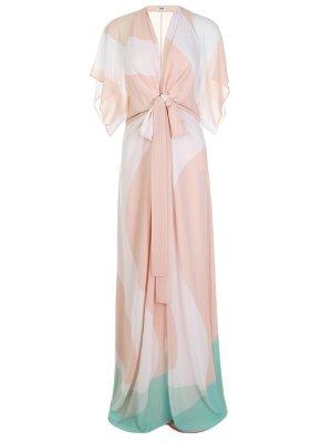 Шелковое платье с принтом ISSA LONDON