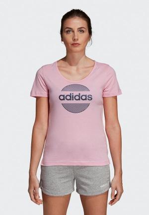 Футболка adidas Linear Tee II. Цвет: розовый