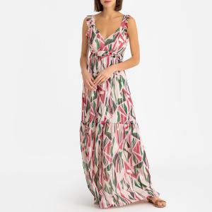Платье длинное с открытой спинкой BETTY BA&SH. Цвет: розовый