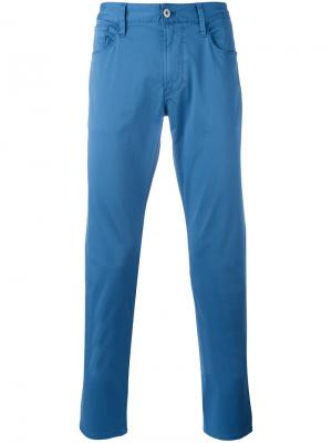 Классические брюки чинос Armani Jeans. Цвет: синий