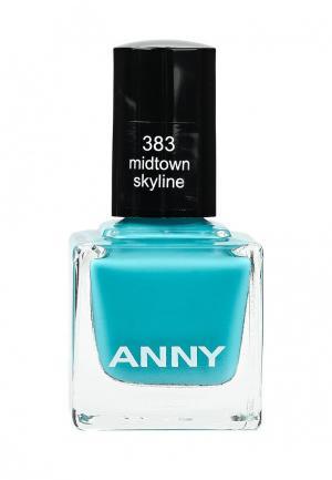 Лак для ногтей Anny тон 383. Цвет: голубой