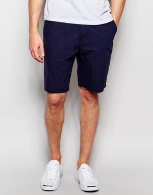 Синие прямые шорты чиносы из эластичной смеси хлопка и льна Levis
