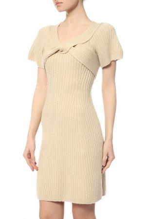 Платье Fendi. Цвет: бежевый