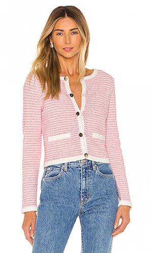 Кардиган tweed MILLY. Цвет: pink,white