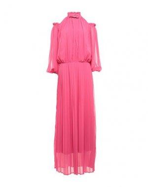 Длинное платье KI6? WHO ARE YOU?. Цвет: фуксия