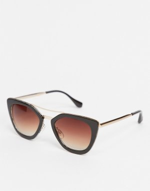 Коричневые круглые солнцезащитные очки -Коричневый цвет AJ Morgan