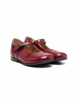 Туфли с брогированием Pèpè. Цвет: красный