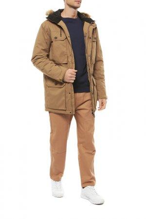 Куртка Billabong. Цвет: бежевый