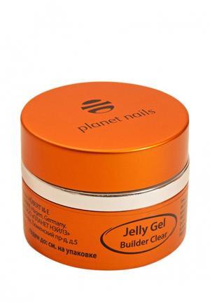 Гель-лак для ногтей Planet Nails 11072 Clear Builder Jelly Gel конструирующий, прозрачный 15 г. Цвет: прозрачный