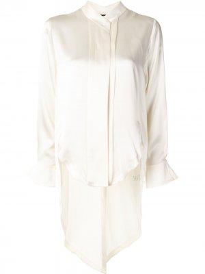 Рубашка с асимметричным подолом и длинными рукавами Alexis. Цвет: желтый