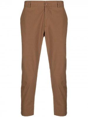 Укороченные брюки чинос прямого кроя Daniele Alessandrini. Цвет: коричневый