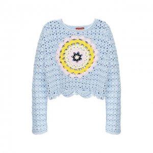 Хлопковый свитер Altuzarra. Цвет: синий