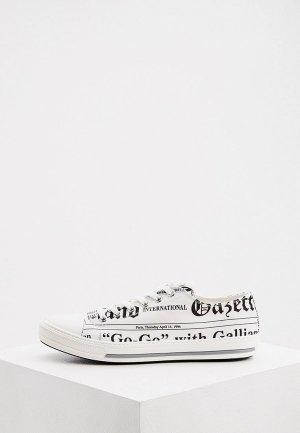 Кеды John Galliano с брелоком. Цвет: белый