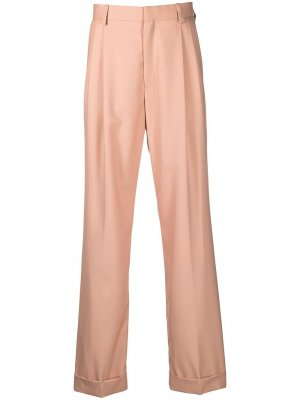Прямые брюки строгого кроя Casablanca. Цвет: нейтральные цвета