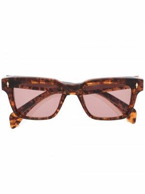 Солнцезащитные очки Molino в квадратной оправе Jacques Marie Mage. Цвет: коричневый