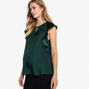 Блуза La Redoute. Цвет: зеленый