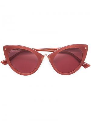 Солнцезащитные очки в оправе кошачий глаз Altuzarra. Цвет: красный