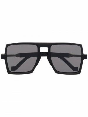 Солнцезащитные очки-авиаторы с затемненными линзами VAVA Eyewear. Цвет: черный