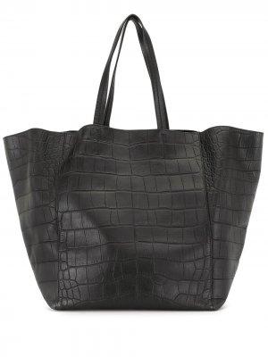 Большая сумка-тоут Cabas pre-owned Céline. Цвет: черный