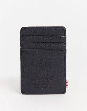 Черная кожаная визитница с защитой от RFID-устройств -Черный Herschel Supply Co