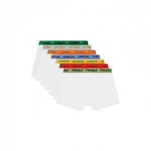 Комплект из 7-ми трусов Stella McCartney. Цвет: разноцветный