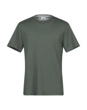 Футболка HENRY COTTON'S. Цвет: зеленый-милитари