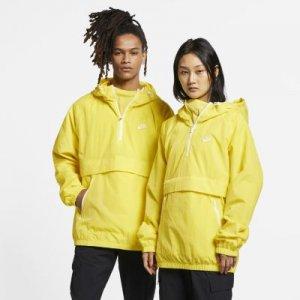 Анорак из тканого материала с капюшоном Sportswear Nike. Цвет: желтый