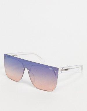 Женские солнцезащитные очки в крупной оправе разноцветных тонах Quay Jaded-Мульти Australia