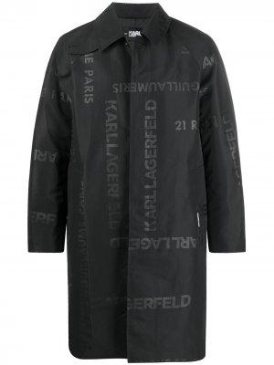 Тренч с логотипом Karl Lagerfeld. Цвет: черный