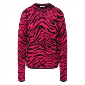 Шерстяной пуловер Saint Laurent. Цвет: розовый