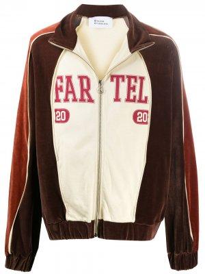 Куртка в стиле колор-блок с логотипом Telfar. Цвет: коричневый