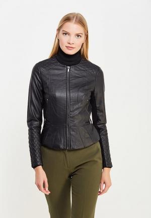 Куртка кожаная French Connection FR003EWURS90. Цвет: черный