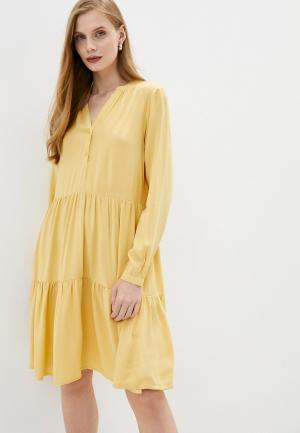 Платье b.young. Цвет: желтый