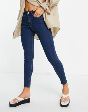 Зауженные джинсы голубого цвета Lucy-Голубой Brave Soul