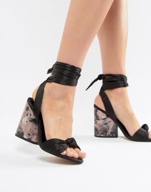 Босоножки на каблуке с узелками Hazy ASOS DESIGN
