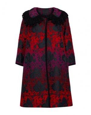Пальто ANNA SUI. Цвет: красный