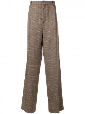 Классические брюки в клетку Botter. Цвет: коричневый