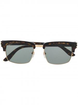 Солнцезащитные очки C Décor Cartier Eyewear. Цвет: коричневый