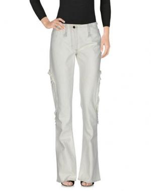 Джинсовые брюки ANDREW MACKENZIE. Цвет: слоновая кость