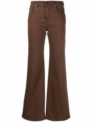 Расклешенные брюки средней посадки P.A.R.O.S.H.. Цвет: коричневый