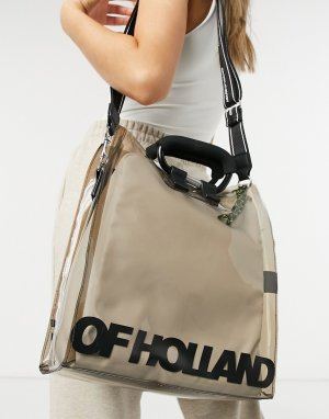 Серая прозрачная маленькая сумка-тоут -Серый House of Holland