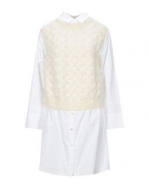 Короткое платье ATINSIGHT by ANDREA TURCHI. Цвет: слоновая кость