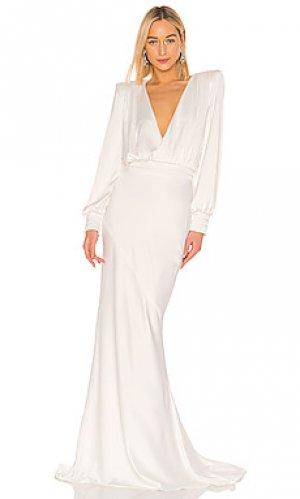 Вечернее платье betsy Zhivago. Цвет: белый