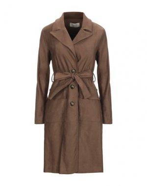 Легкое пальто KAOS JEANS. Цвет: какао